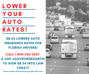 Sign SB 54 to Repeal PIP and lower auto insurance rates by $350 per year!