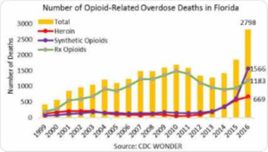 Chart: Opioid-Relatd Deaths in Florida