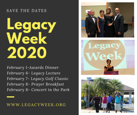 Legacy Week 2020 Concert in the Park SAVE THE DATE