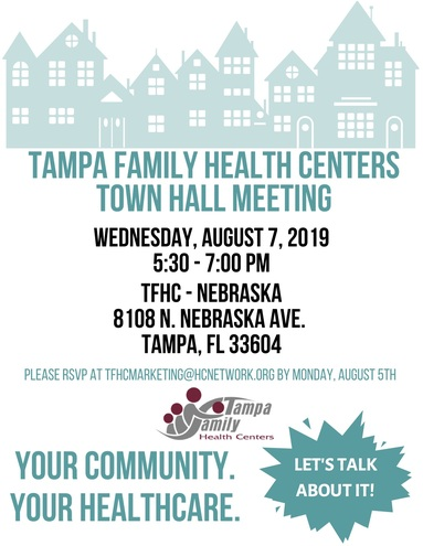 Tfhc   town hall meeting event flyer