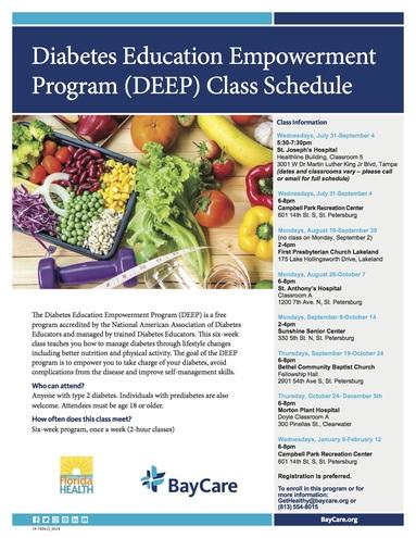 Deep class schedule updated 7.26.19