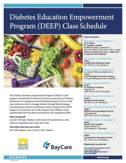 Deep class schedule updated 7.26.19