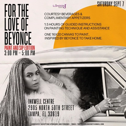 """For The Love of """"Beyonce"""" aka Queen Bey Paint and Sip Edition"""