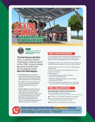 Pierone seeking vendors august 2019