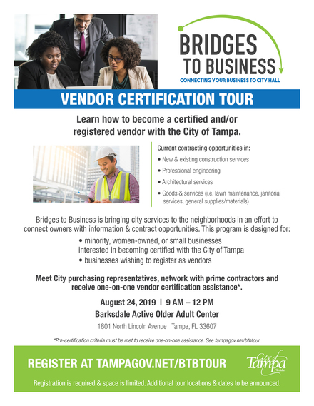 Bridges to Business Vendor Certification Tour