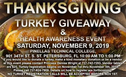 Thanksgiving Turkey Giveaway & Health Awareness Event