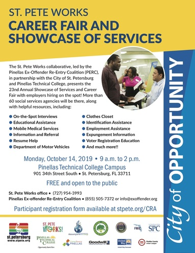 Showcase of services and career fair 2019 flyer