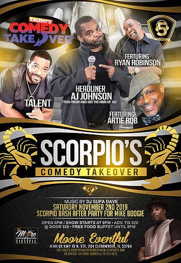 Scorpio's Comedy Takeover November 2nd