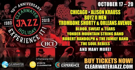 40th Clearwater Jazz Holiday October 20th