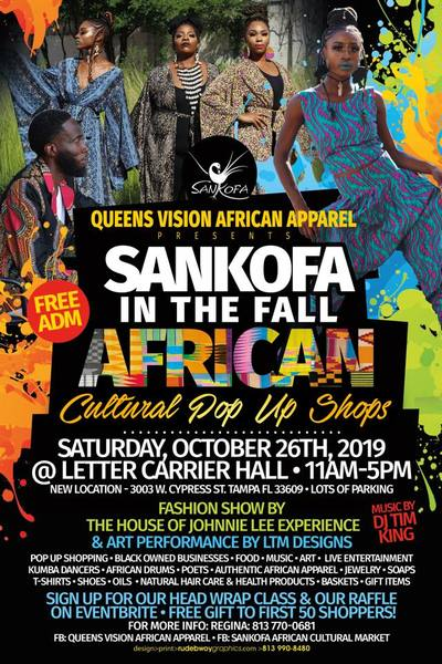 SANKOFA in the Fall African Market October 26th