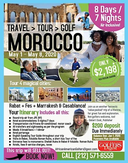 Morocco flyer border