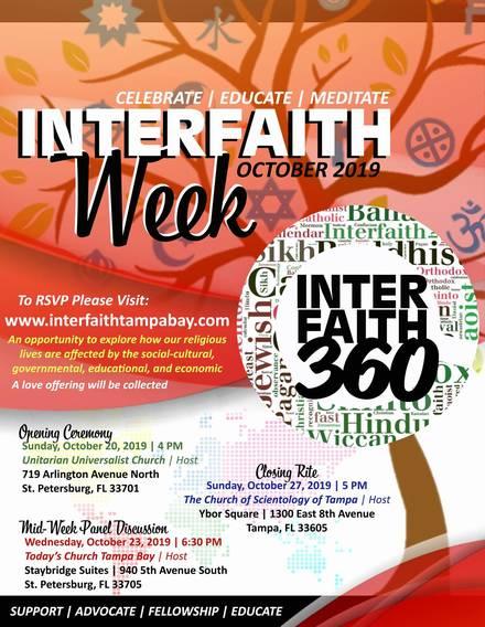 Interfaith Week October 20 - 27, St Pete & Tampa