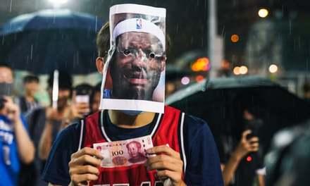 'LeBron stands for money': Hong Kong protesters burn James jerseys