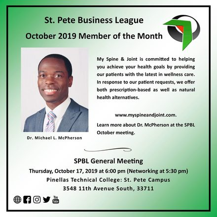 Dr. McPherson Named SPBL Member of the Month October 2019