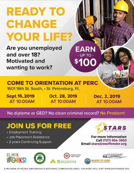 STARS Employment Program Oct. 28th