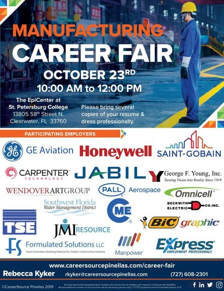 Manufacturing Career Fair Oct. 23rd