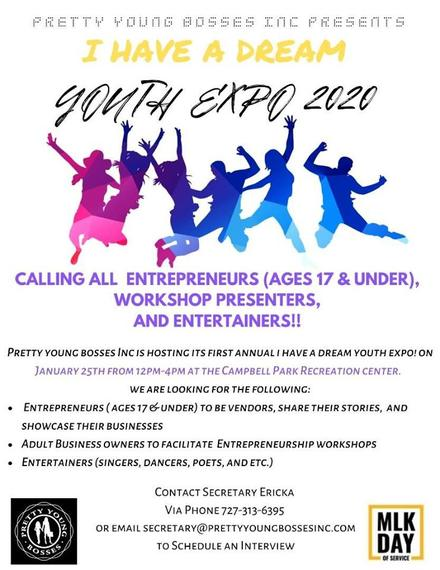 Pretty Young Bosses Inc Presents I Have A Dream Youth Expo 2020