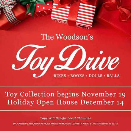 The Woodson's Toy Drive Collections: Toys will be accepted November 9th - December 14th
