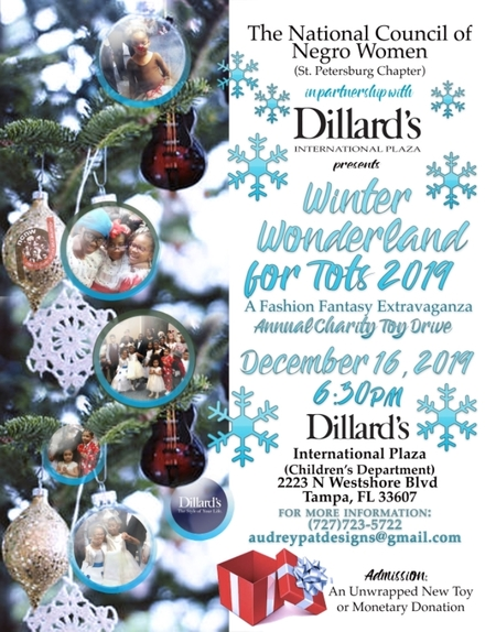 NCNW in Partnership with Dillard's International Plaza presents Winter Wonderland for Tots Toy Drive