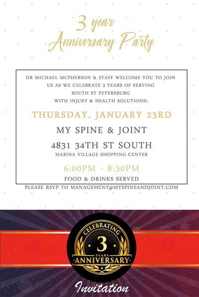 My Spine & Joint's 3 Year Anniversary Party!