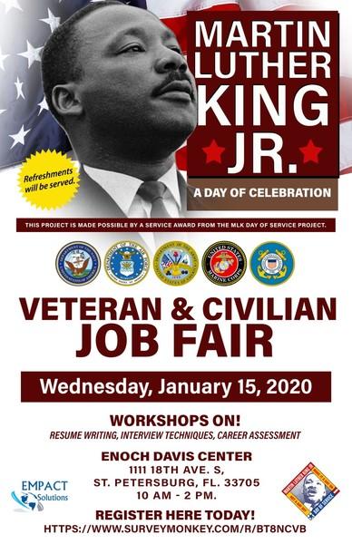 MLK Jr. Day of Celebration Veteran & Civilian Job Fair