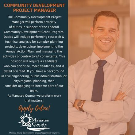 Community development project manager