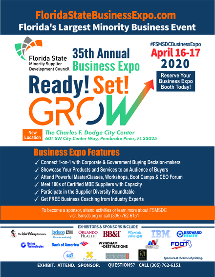 Florida's Largest Minority 35th Annual Business Expo April 16th