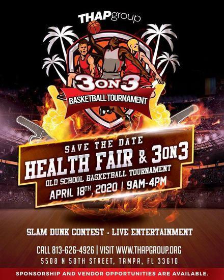 POSTPONED THAP's 3 on 3 Old School Basketball Tournament & Health Fair