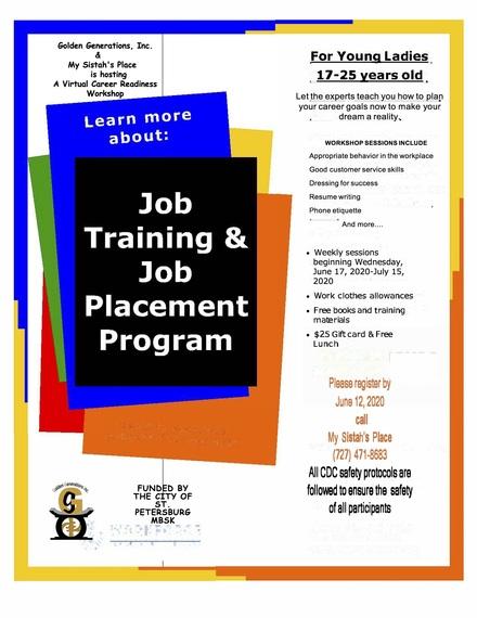 Career readiness workshop flyer 2020