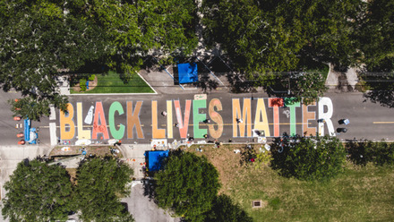 St. Pete now has a giant 'Black Lives Matter' street mural