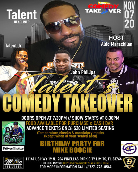 5CP Presents Talent's Comedy Takeover