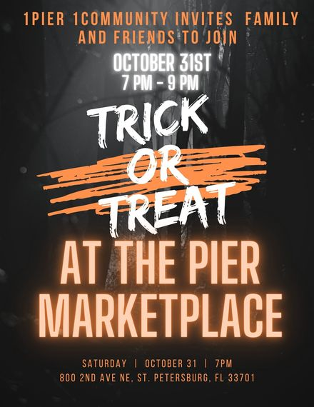 1Pier One Community Invites Family and Friends Trick or Treating at The Pier Marketplace