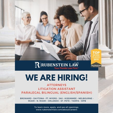 Rubenstein Law Job Opportunity