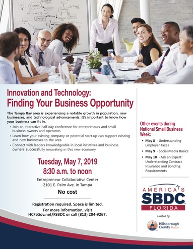 Ed fsbdc innovation tech flyer