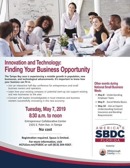 Ed fsbdc innovation tech flyer