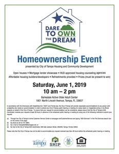 Dare to own the dream 2019 flyer