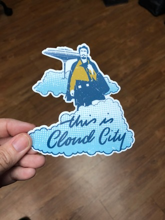 This is cloud city sticker photo